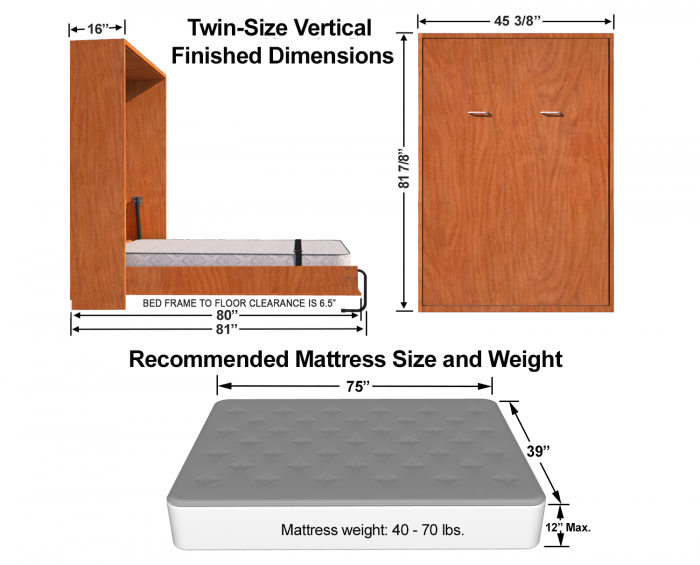 twin-size-Murphy-bed-dimensions