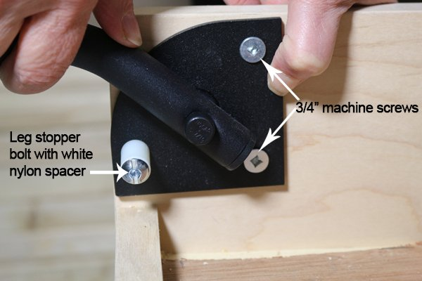 Square Tube Fold-up Legs Installation for Murphy Beds