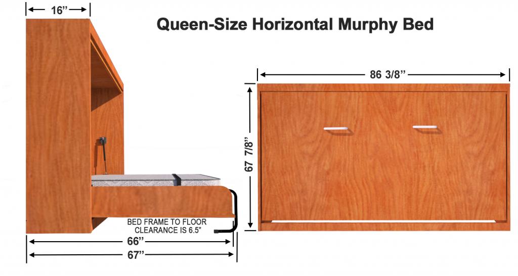 Horizontal Wall Mount Hardware Kit Queen Size