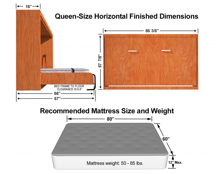 queen-size-sideways-Murphy-bed-dimensions