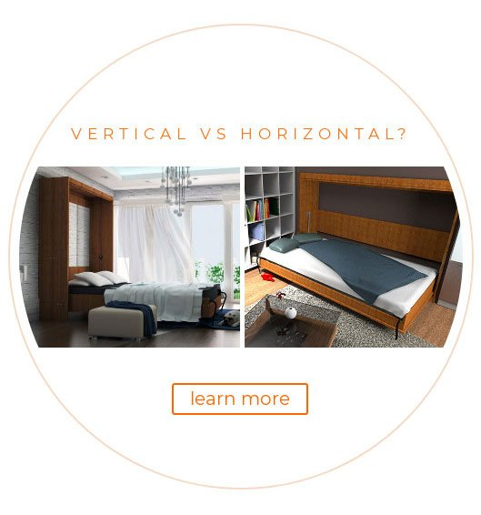 vertical vs horizontal murphy bed kits