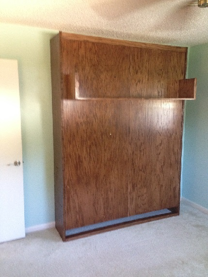 Murphy bed stained brown diy project Florida