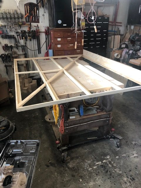 murphy bed sub frame on bench top