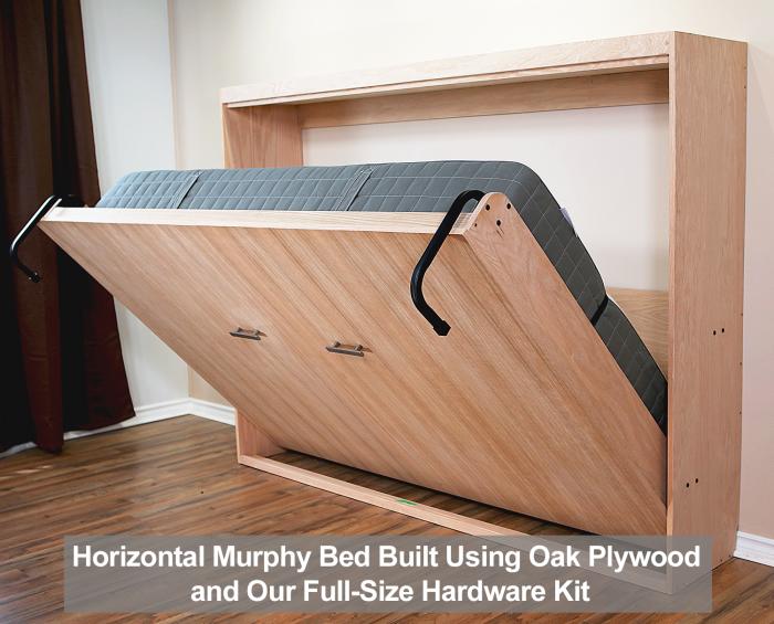 horizontal murphy bed built using oak from home depot