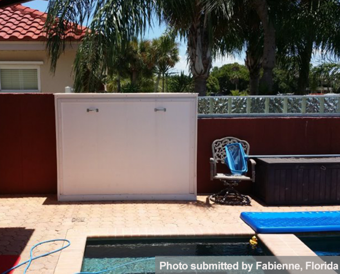 murphy bed outdoor in pool area florida usa