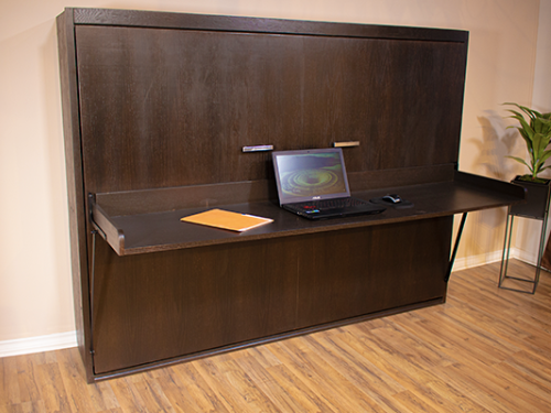 horizontal cabinet Murphy bed with desk attached