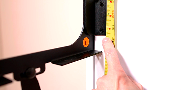 measuring the desl brackets for setup on bed