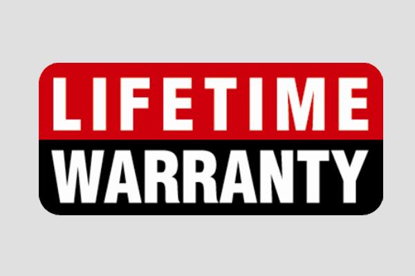 lifetime warranty seal for desk hardware