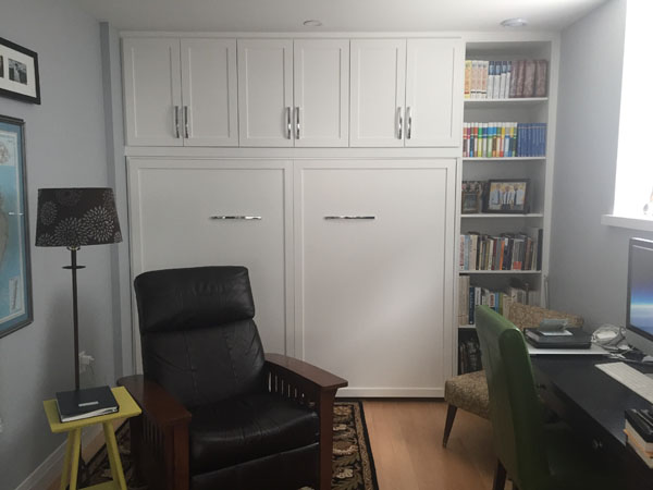 Molding added to diy murphy bed