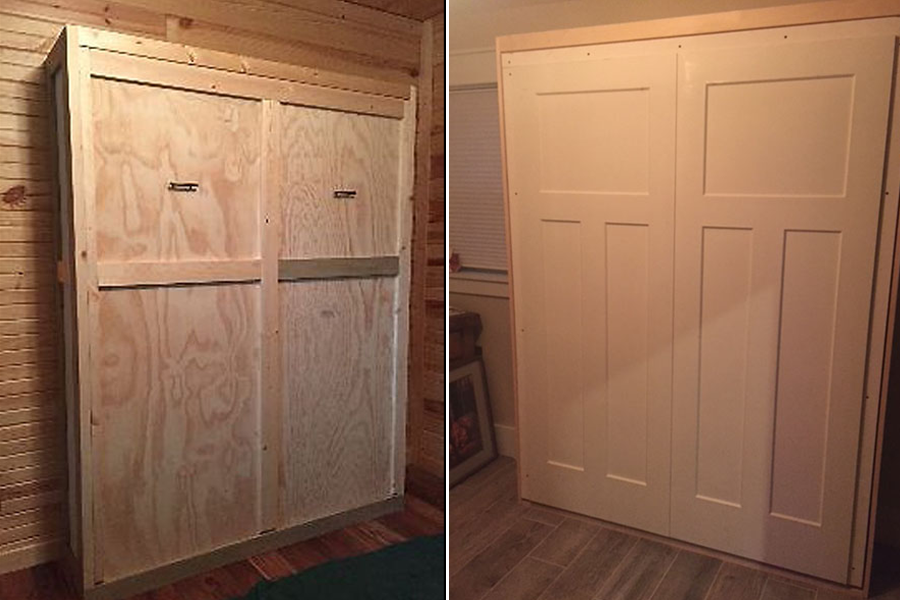 Murphy bed diy with molding on front