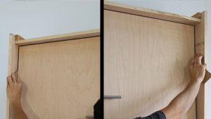 shimming the bed frame gap
