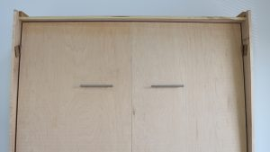 wall bed cabinet properly shimmed
