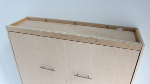 top view of complete wall bed cabinet