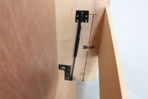lift piston mechanism installed in wall bed