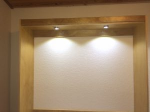 LED style wall bed installation