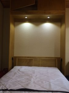 murphy bed cabinet with leds lights
