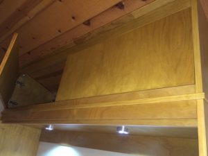 Murphy bed with overhead storage