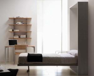 hidden bed in bedroom
