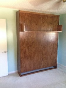 brown murphy bed