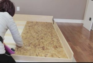 installing mattress supports on wall bed frame step 1