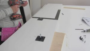 attaching hardware to wall bed sides step 10