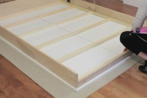 complete wall bed frame with face panels