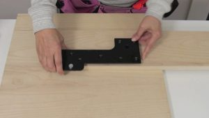 Attaching hardware to wall bed rails step 3