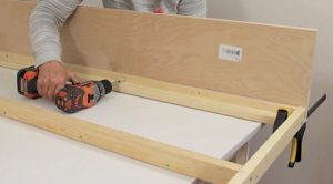 Attaching header board to bed frame step 3