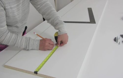 attaching hardware to wall bed sides step 4
