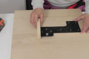 Attaching hardware to wall bed rails step 4