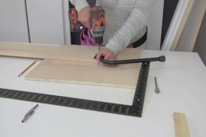 attaching legs to wall bed step 4