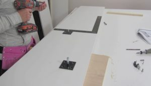 attaching wall bed hardware step 6