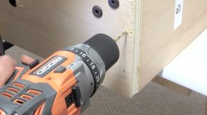 Attaching wall bed hardware to side rails step 6