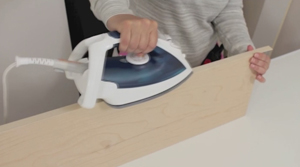 applying edging tape step 1
