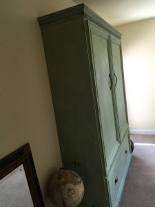 green paint murphy bed concept