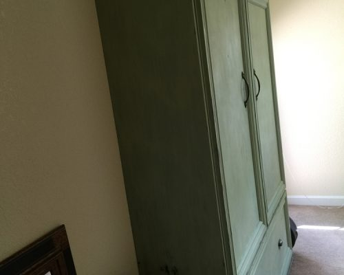 green paint murphy bed concept