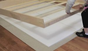 mounting face panels to wall bed frame