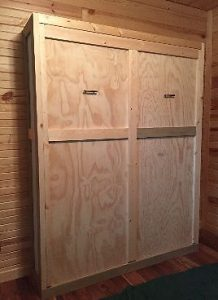 closed murphy bed cabinet