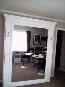 diy murphy bed with mirror front panels