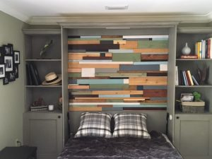 murphy bed with custom bookcases