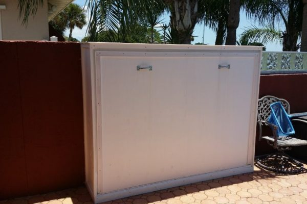 outdoor white diy murphy bed ideas