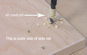 Enlarging wall bed holes for leg