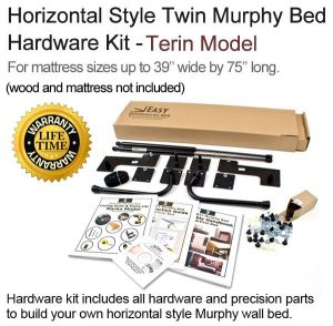 twin size horizontal wall bed