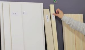 Labeling Murphy bed wooden parts