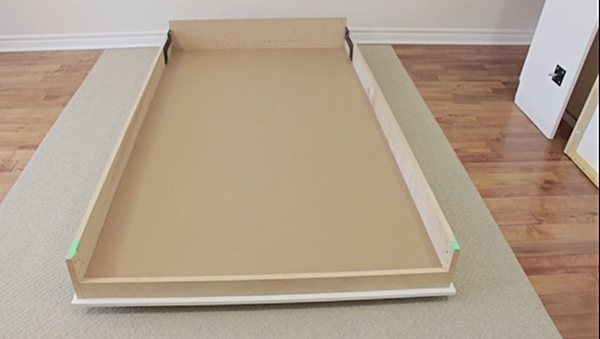 mattress suport on twin size Murphy bed