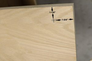 measurements on the side rails of wall bed