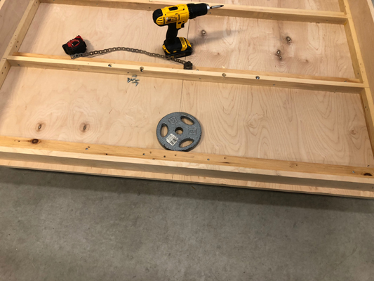 placing the weight on murphy bed frame