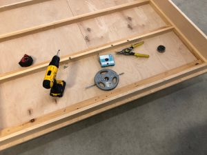 Tools required to install weight on Murphy bed frame