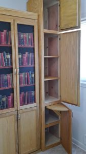 wall bed with book case ideas