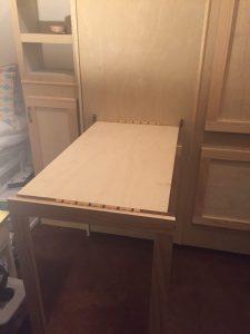 oak wallbed with diy desk option